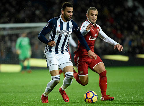 Вест Бромвич и Арсенал сыграли вничью, обменявшись голами в концовке