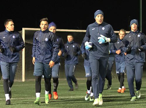 Олимпик провел первую тренировку в новом году