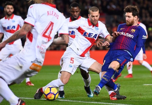 Барселона - Алавес - 2:1. Обзор матча. 28.01.2018