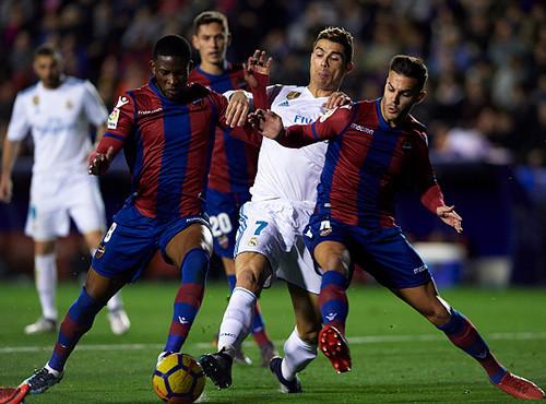 Леванте - Реал - 2:2. Обзор матча и видео голов. 03.02.2018