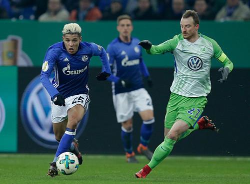Шальке - Вольфсбург - 1:0. Обзор матча. 07.02.2018
