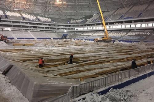 ФОТО ДНЯ. На стадионе ЧМ-2018 в Самаре упала часть конструкции