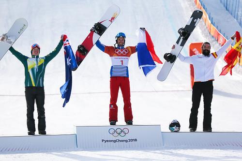 Пхенчхан-2018. Француз Вольтье выиграл соревнования по сноуборд-кроссу