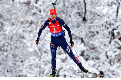 Кузьмина — первая биатлонистка, побеждавшая на трех Олимпиадах подряд