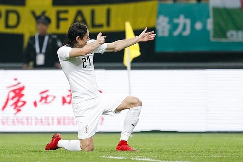 Эдинсон Кавани сыграл 100-й матч за сборную Уругвая