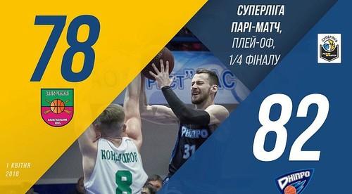 БК Дніпро вийшов до півфіналу Суперліги