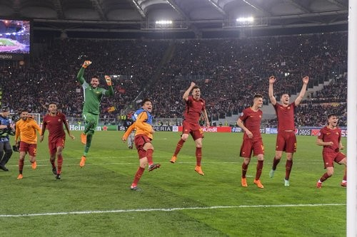 Рома пробилась в полуфинал Лиги чемпионов впервые за 34 года