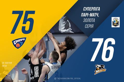 Дніпро поступився Черкаським Мавпам у першому матчі фіналу Суперліги
