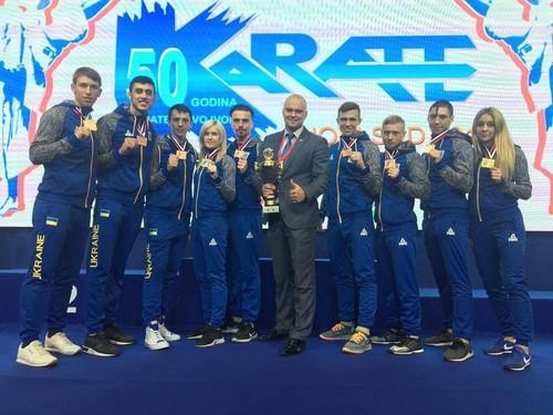 Сборная Украины по каратэ подтвердила свой класс на чемпионате Европы