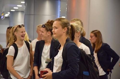 В Киев прибыли участницы финала Лиги чемпионов среди женщин