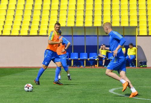 Сборная Украины начала тренировки под руководством Андрея Шевченко