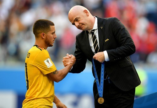 Эден Азар признан лучшим игроком матча Бельгия — Англия