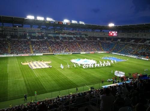 Церемония награждения победителя Суперкубка Украины.