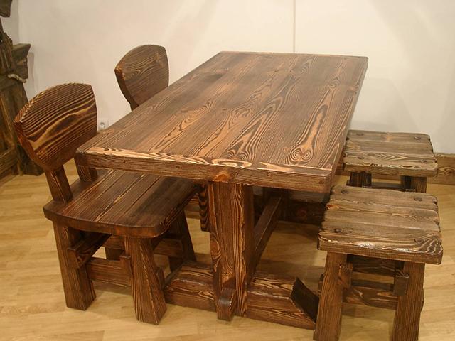 Обворожительная мебель из натурального дерева