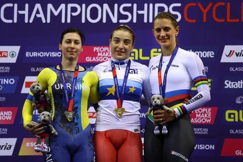 Украинка Старикова завоевала серебро ЧЕ по велотреку